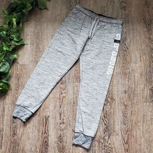 VS PINK Joggers Sweatpants Gray Spell Out Lounge